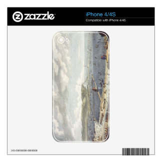 View of the Port and the Roadstead of Boulogne at Skin For iPhone 4