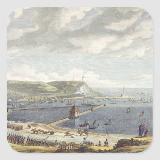 View of the Port and the Roadstead of Boulogne at Square Sticker