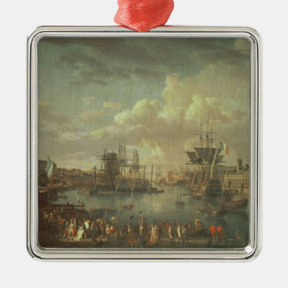 View of the Port at Brest Metal Ornament