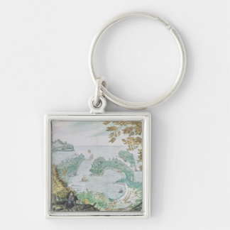 View of the Port of Acapulco Keychain