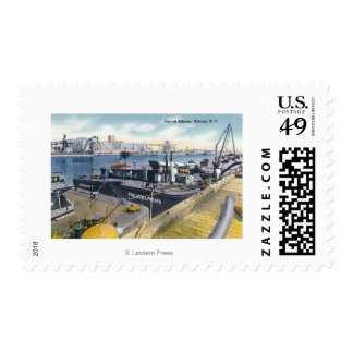View of the Port of Albany, SS Iroquois in Postage