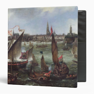View of the Port of Antwerp 3 Ring Binder
