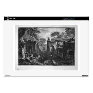 """View of the port of the ancient city of Pompeii 15"""" Laptop Skin"""