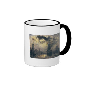 View of the Port, or The Windmills in Ringer Mug