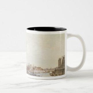 View of the Port Saint-Paul, Paris, 1782 Two-Tone Coffee Mug