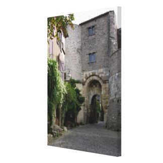 View of the Porte des Ormeaux (photo) Canvas Print