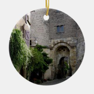 View of the Porte des Ormeaux (photo) Ceramic Ornament