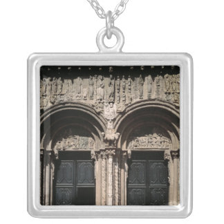 View of the Portico de las Platerias Silver Plated Necklace