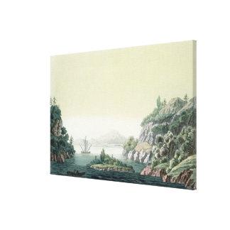 View of the Potomac river near Mount Vernon (colou Canvas Print
