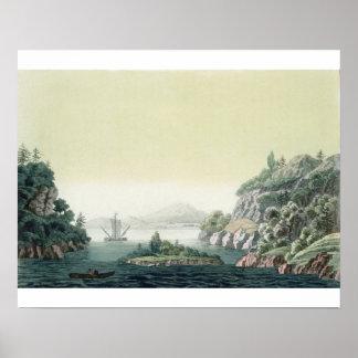 View of the Potomac river near Mount Vernon (colou Poster