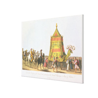 View of the Procession of the Sacred Camel prepara Canvas Print