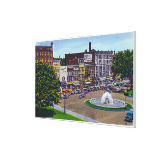 View of the Public Square Fountain Canvas Print