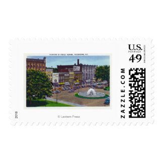 View of the Public Square Fountain Postage Stamp