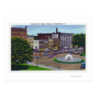 View of the Public Square Fountain Postcard