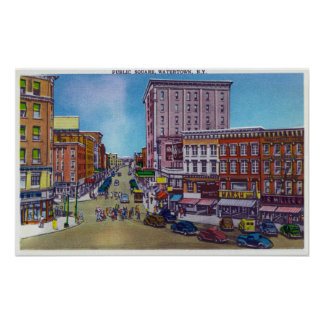 View of the Public Square Poster