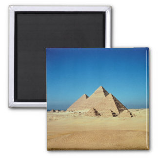 View of the Pyramids 2 Inch Square Magnet