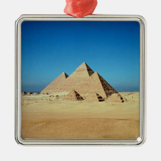View of the Pyramids Metal Ornament