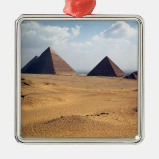 View of the Pyramids of Cheops Metal Ornament