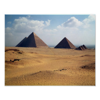 View of the Pyramids of Cheops Poster