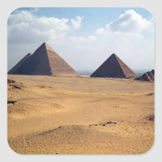 View of the Pyramids of Cheops Square Sticker