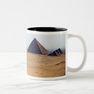 View of the Pyramids of Cheops Two-Tone Coffee Mug