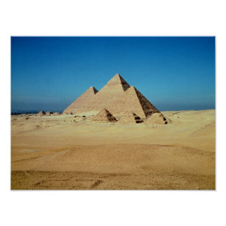 View of the Pyramids Poster