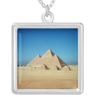 View of the Pyramids Silver Plated Necklace