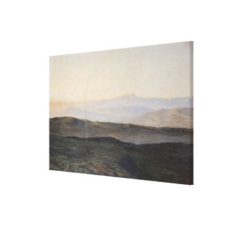View of the Pyrenees from Plague Canvas Print