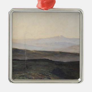 View of the Pyrenees from Plague Metal Ornament