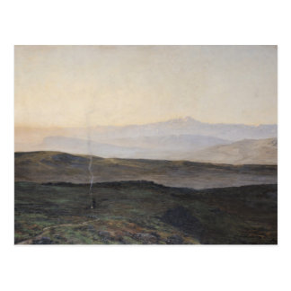 View of the Pyrenees from Plague Postcard