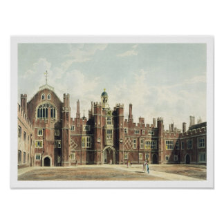View of the Quadrangle at Hampton Court Palace fro Poster