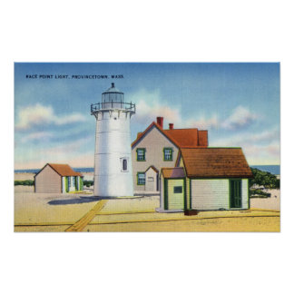 View of the Race Point Lighthouse Poster