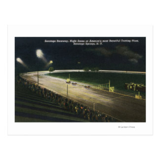 View of the Raceway at Night Postcard