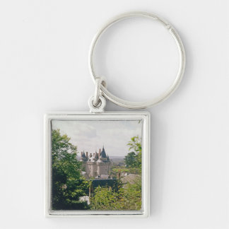 View of the restored chateau from the north keychain