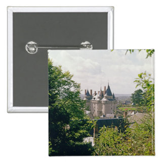View of the restored chateau from the north pinback button