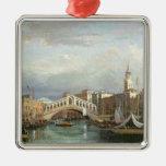 View of the Rialto Bridge in Venice Metal Ornament