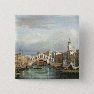 View of the Rialto Bridge in Venice Pinback Button