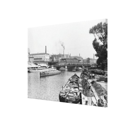 View of the River Spree, Berlin, c.1910 Canvas Print