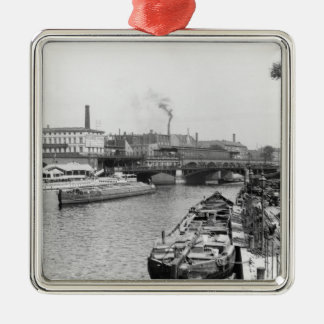 View of the River Spree, Berlin, c.1910 Metal Ornament