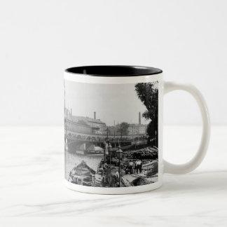 View of the River Spree, Berlin, c.1910 Two-Tone Coffee Mug