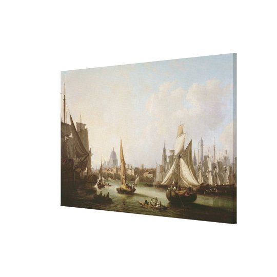 View of the River Thames Canvas Print