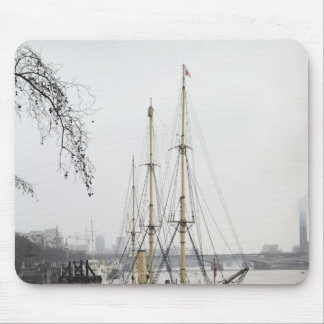 View of the River Thames with RRS Discovery Mouse Pad