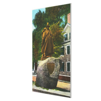 View of the Roger Conant Statue Canvas Print