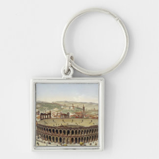 View of the Roman Amphitheatre, Verona, engraved b Keychain