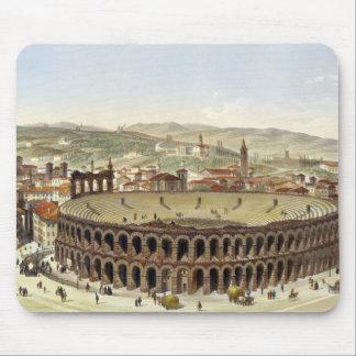 View of the Roman Amphitheatre, Verona, engraved b Mouse Pad