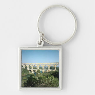 View of the Roman aqueduct, built c.19 BC Keychain