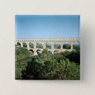 View of the Roman aqueduct, built c.19 BC Pinback Button