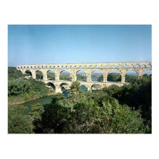 View of the Roman aqueduct, built c.19 BC Postcard