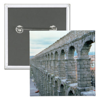View of the Roman Aqueduct probably dating Pinback Button