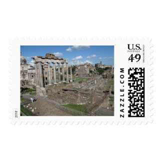 View of the Roman Forum of 179 AD Stamp